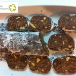 Postre salchichón de chocolate