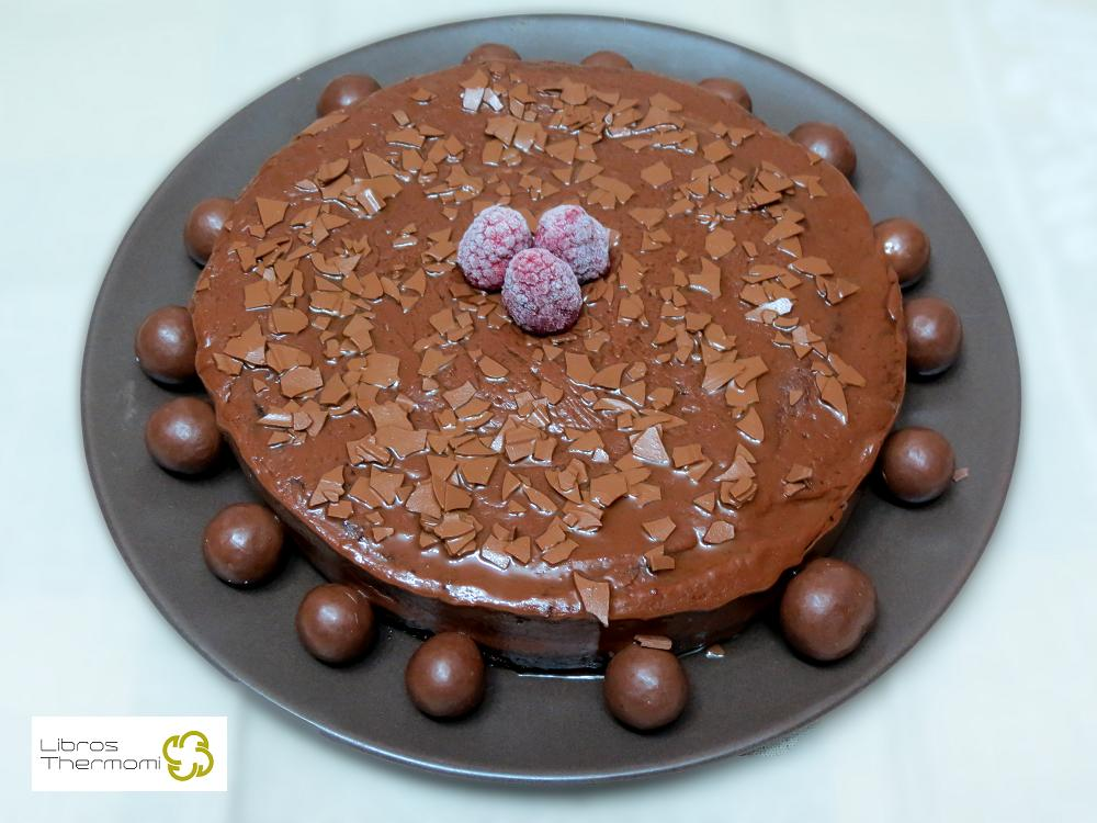Tarta de chocolate fondant con Thermomix