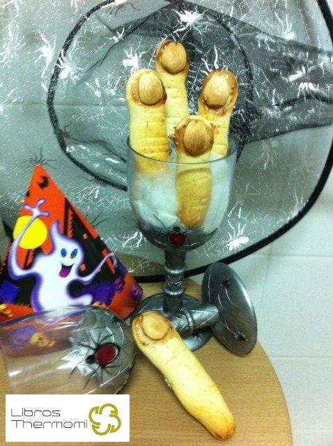 Dedos de bruja para la fiesta de Halloween con Thermomix