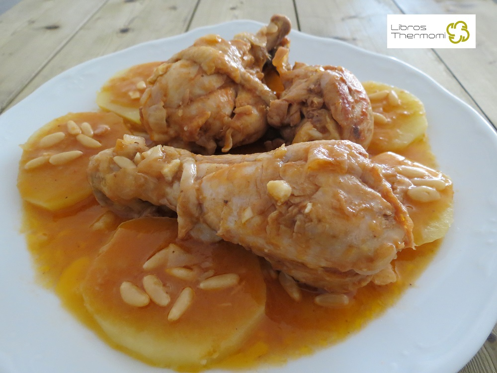 Jamoncitos de pollo a la catalana con Thermomix