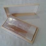 Caja de madera para turrón empresa injima