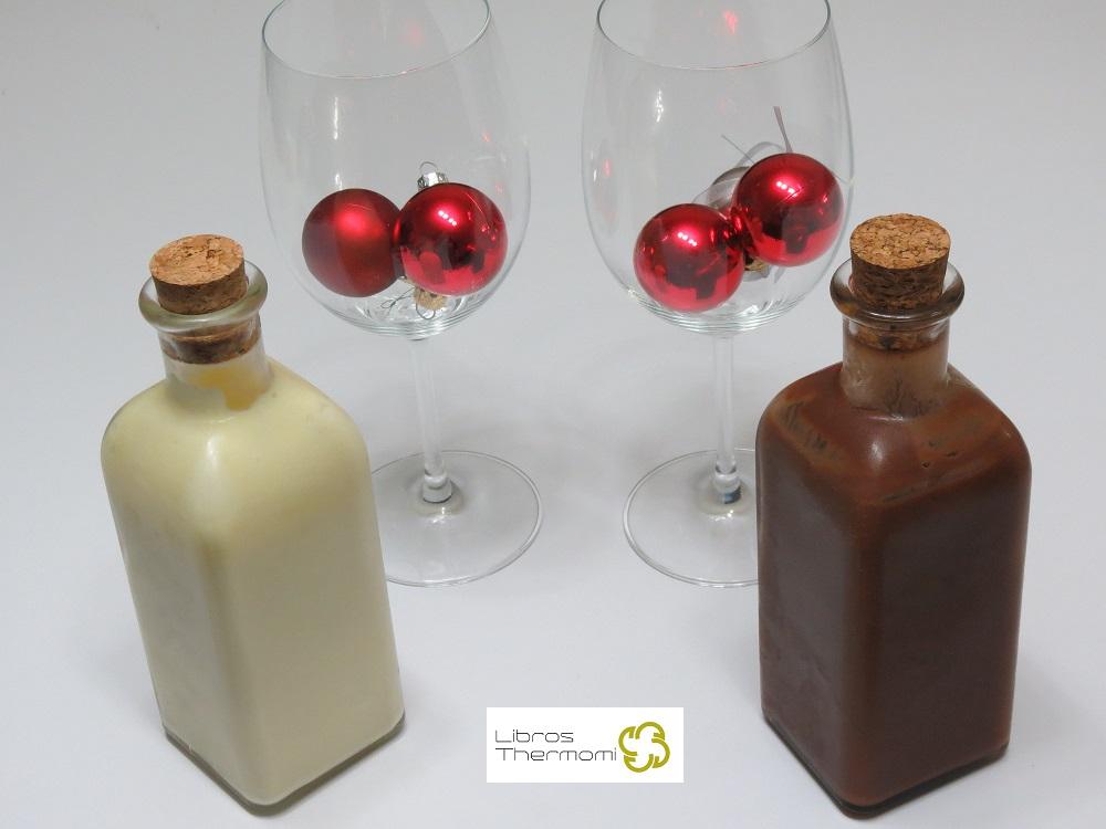 Licor al chocolate y Licor de Chocolate blanco con Thermomix