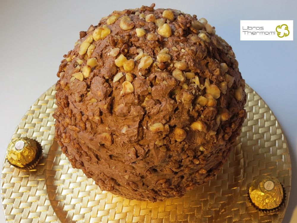 Tarta Ferrero Rocher XXL Montada con Thermomix