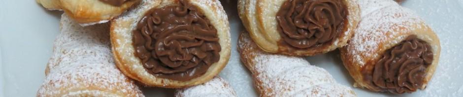 Caracolas de Crema Pastelera de Chocolate con Theromix