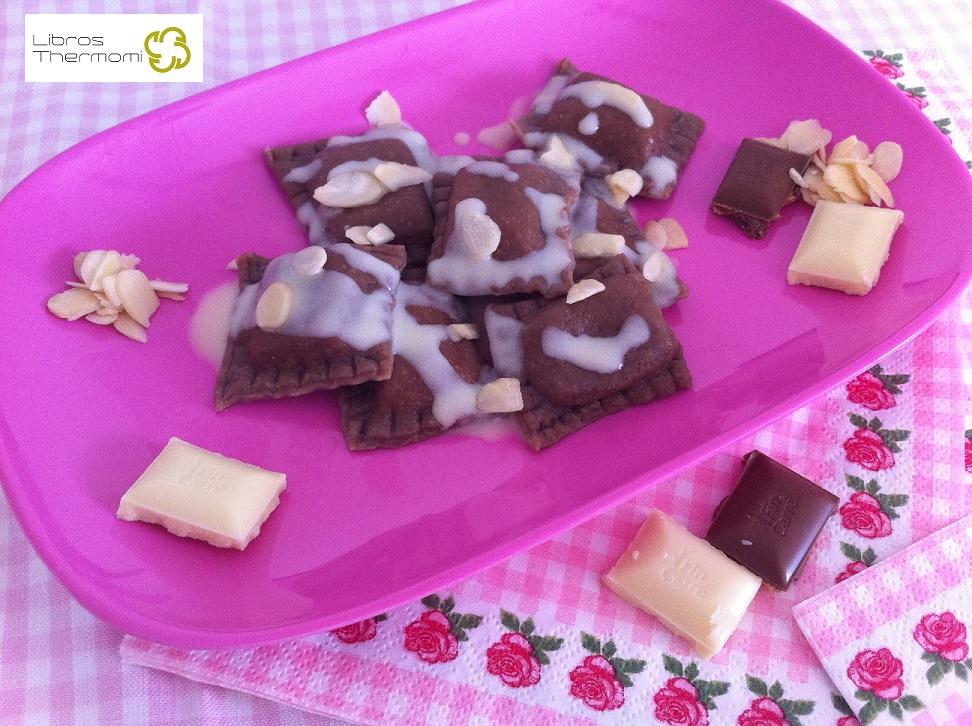 Ravioli de Chocolate con Crema de Vainilla con Thermomix
