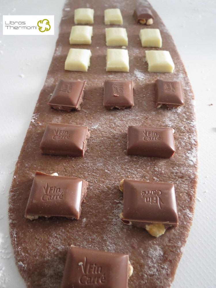 Elaboración Ravioli de Chocolate con Crema de Vainilla