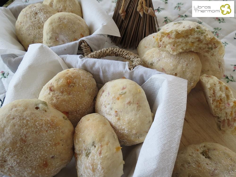 Panecillos de jamon y queso con Thermomix